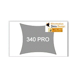 Voile d'Ombrage Carré 340gm tailles standard