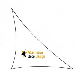 Voile d'Ombrage 340gm tailles standard triangle Rectangle