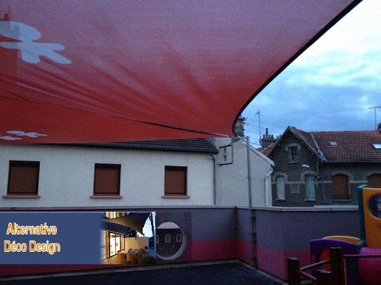 voile d'ombrage crèche SPE Reims-marne